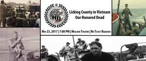 Vietnam graphic featuring Licking County Vets